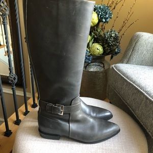 Nine West Charcoal leather boots size 7.5